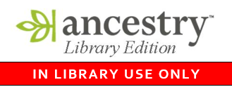 Ancestry Library Edition is ONLY available from within the JMS Library.